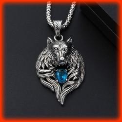 COLLIER BLUE WOLF